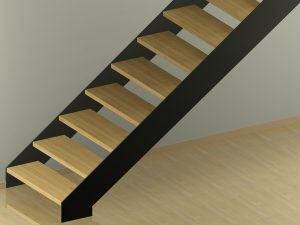Schody z policzkami prostymi