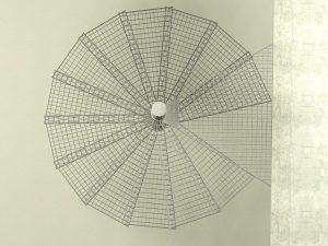 Schody spiralne - widok z góry